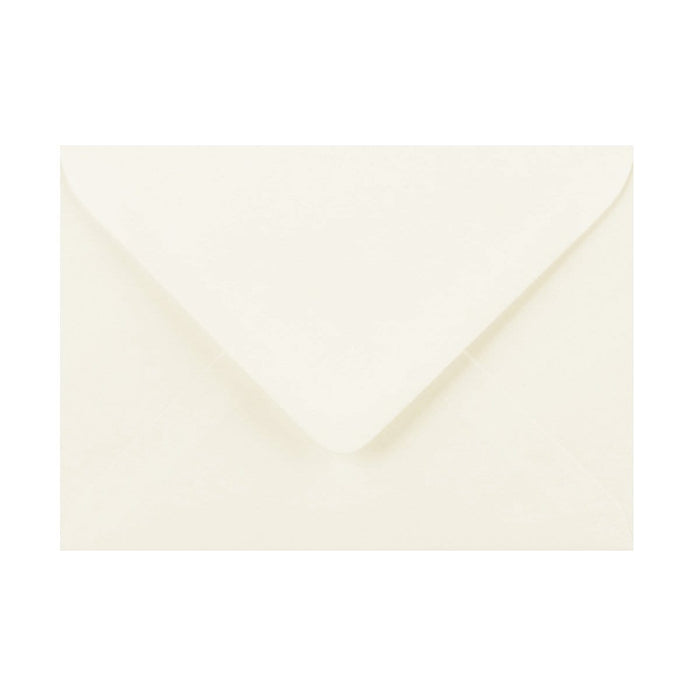 125 x 175 Ivory Laid Gummed Diamond Flap Greeting Envelopes [Qty 1,000] (2131152371801)