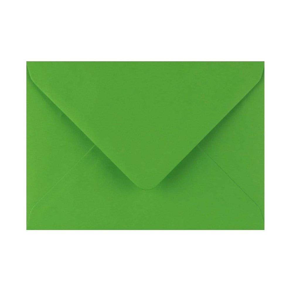 125 x 175 Meadow Green Gummed Diamond Flap Greeting Envelopes [Qty 1,000] (2131155353689)