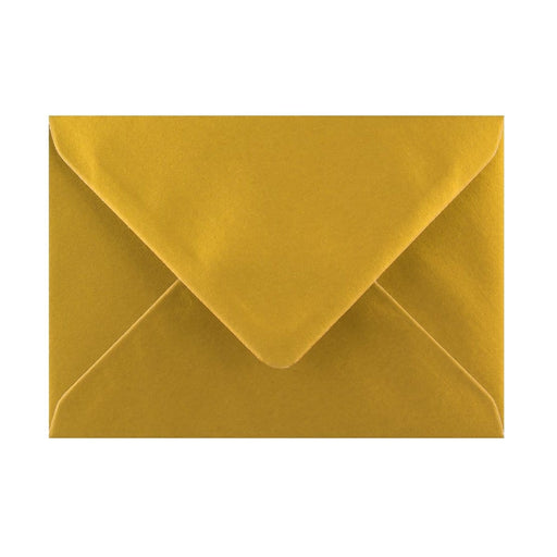 125 x 175 Metallic Gold Gummed Diamond Flap Greeting Envelopes [Qty 1,000] (2131149652057)