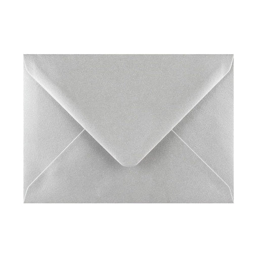125 x 175 Metallic Silver Gummed Diamond Flap Greeting Envelopes [Qty 1,000] (2131159973977)