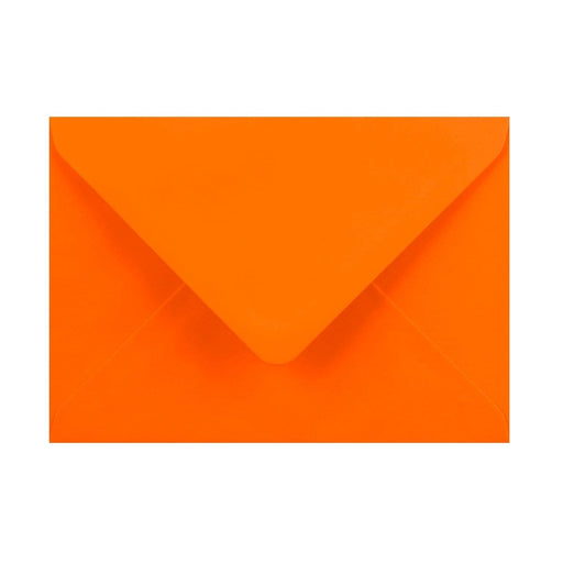 125 x 175 Orange Gummed Diamond Flap Greeting Envelopes [Qty 1,000]