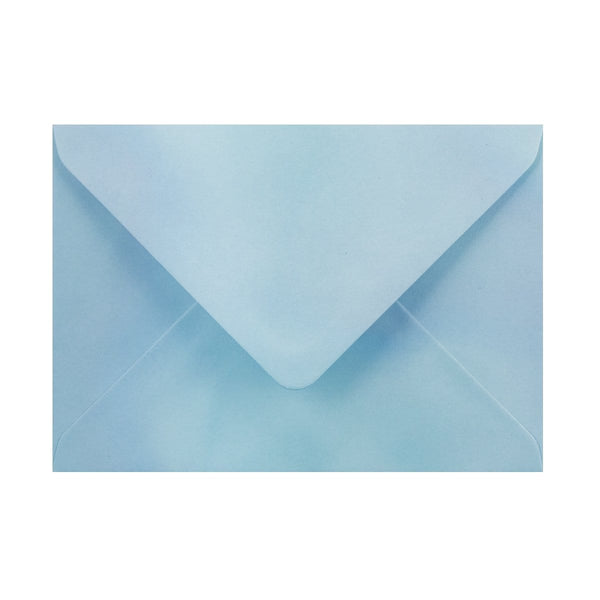 125 x 175 Pearlescent Blue Gummed Diamond Flap Greeting Envelopes [Qty 1,000]