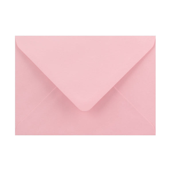 125 x 175 Soft Pink Gummed Diamond Flap Greeting Envelopes [Qty 1,000]