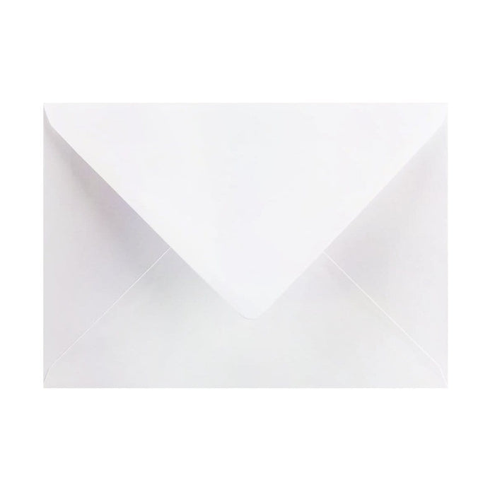 125 x 175 Pearlescent White Gummed Diamond Flap Greeting Envelopes [Qty 1,000] (2131166036057)