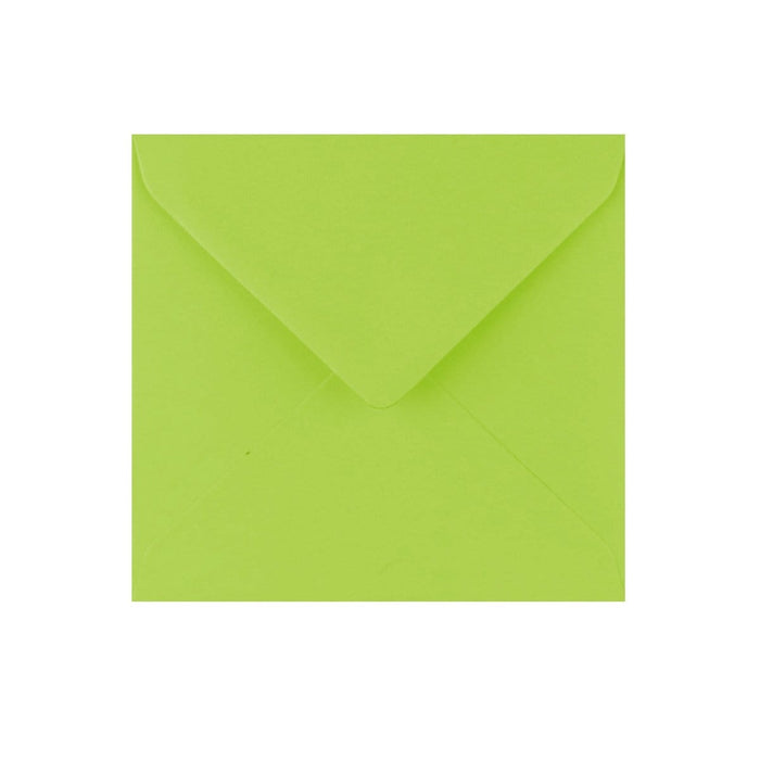 130 x 130 Bright Green Gummed Diamond Flap Greeting Envelopes [Qty 1,000] (2131124912217)