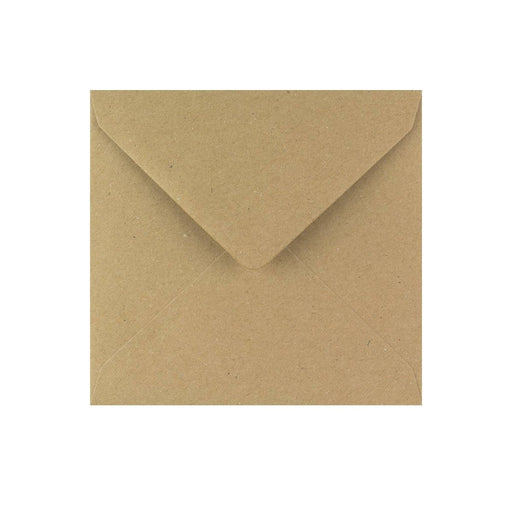 130 x 130 Brown Fleck Gummed Diamond Flap Greeting Envelopes [Qty 1,000]