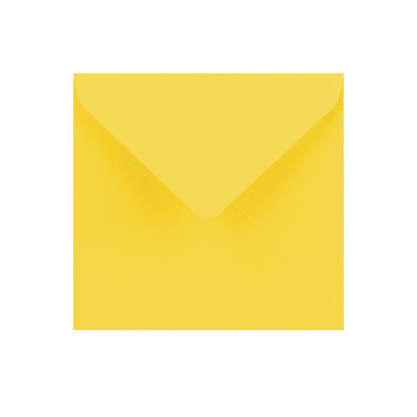 130 x 130 Canary Yellow Gummed Diamond Flap Greeting Envelopes [Qty 1,000]