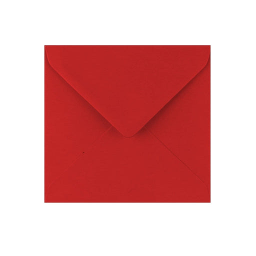 130 x 130 Crimson Red Gummed Diamond Flap Greeting Envelopes [Qty 1,000]