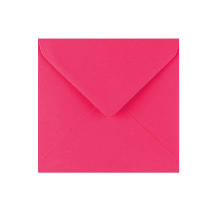 130 x 130 Fuchsia Pink Gummed Diamond Flap Greeting Envelopes [Qty 1,000]