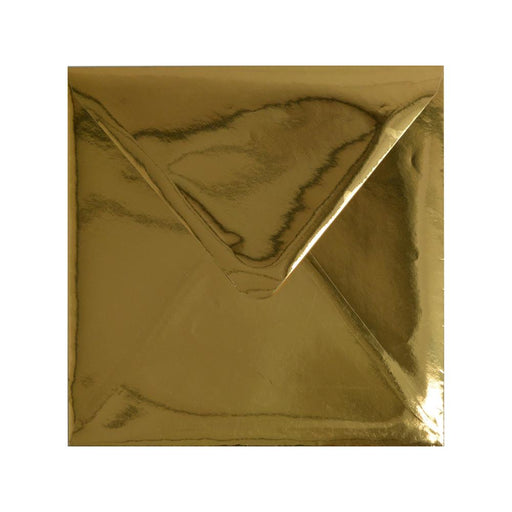 130 x 130 Metallic Gold Mirror Finish 120gsm Gummed Envelopes [Qty 100]