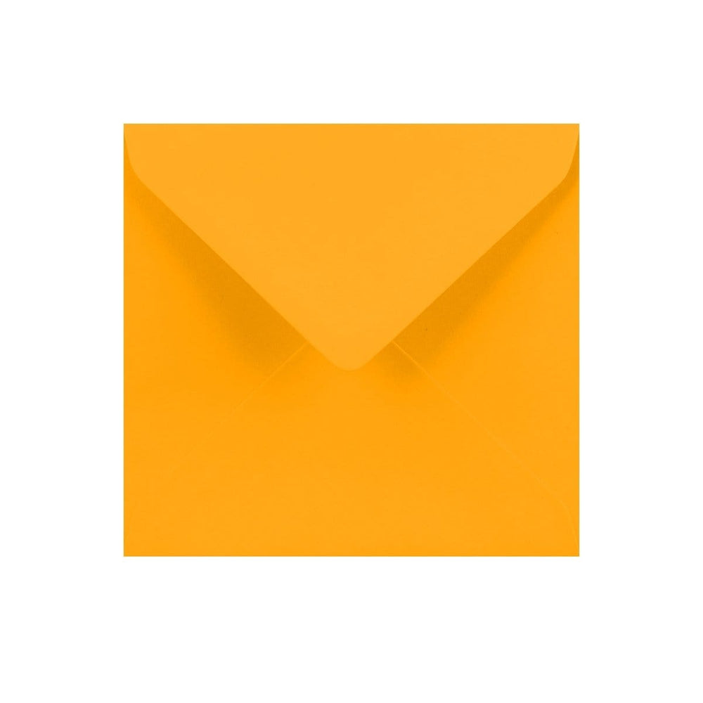130 x 130 Harvest Yellow Gummed Diamond Flap Greeting Envelopes [Qty 1,000]