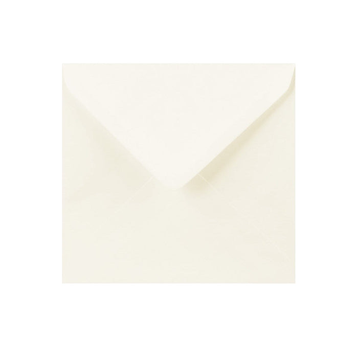 130 x 130 Ivory Laid Gummed Diamond Flap Greeting Envelopes [Qty 1,000] (2131152732249)
