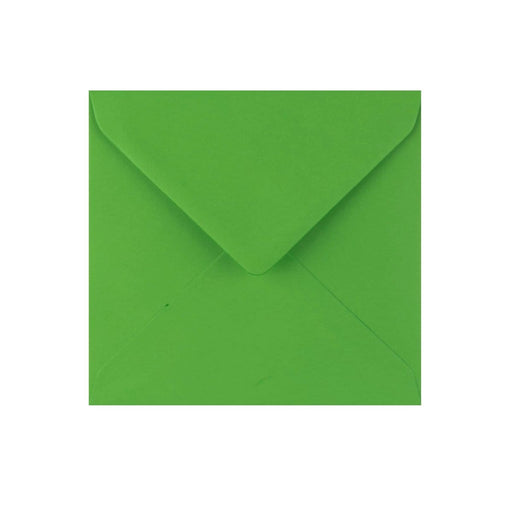 130 x 130 Meadow Green Gummed Diamond Flap Greeting Envelopes [Qty 1,000]