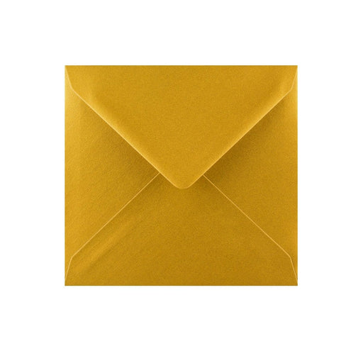 130 x 130 Metallic Gold Gummed Diamond Flap Greeting Envelopes [Qty 1,000] (2131149783129)