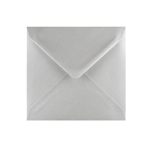 130 x 130 Metallic Silver Gummed Diamond Flap Greeting Envelopes [Qty 1,000]