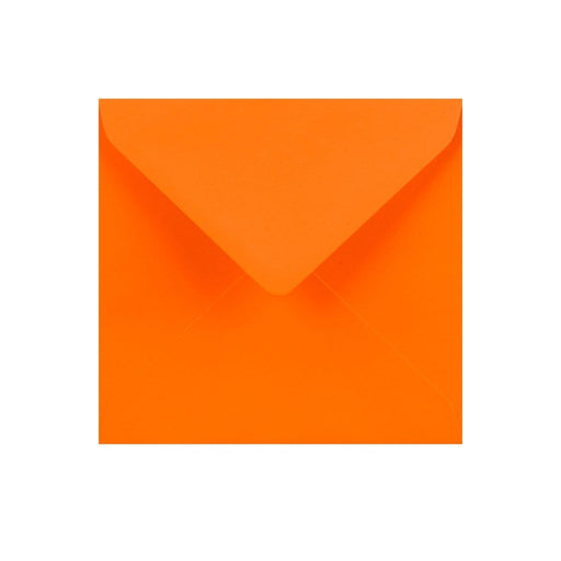 130 x 130 Orange Gummed Diamond Flap Greeting Envelopes [Qty 1,000]