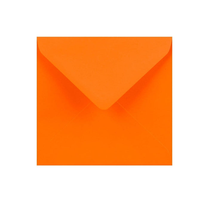 130 x 130 Orange Gummed Diamond Flap Greeting Envelopes [Qty 1,000] (2131156697177)