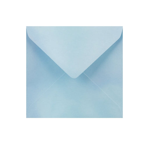 130 x 130 Pearlescent Blue Gummed Diamond Flap Greeting Envelopes [Qty 1,000]