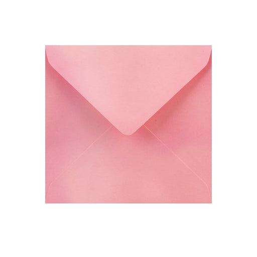 130 x 130 Pearlescent Pink Gummed Diamond Flap Greeting Envelopes [Qty 1,000]