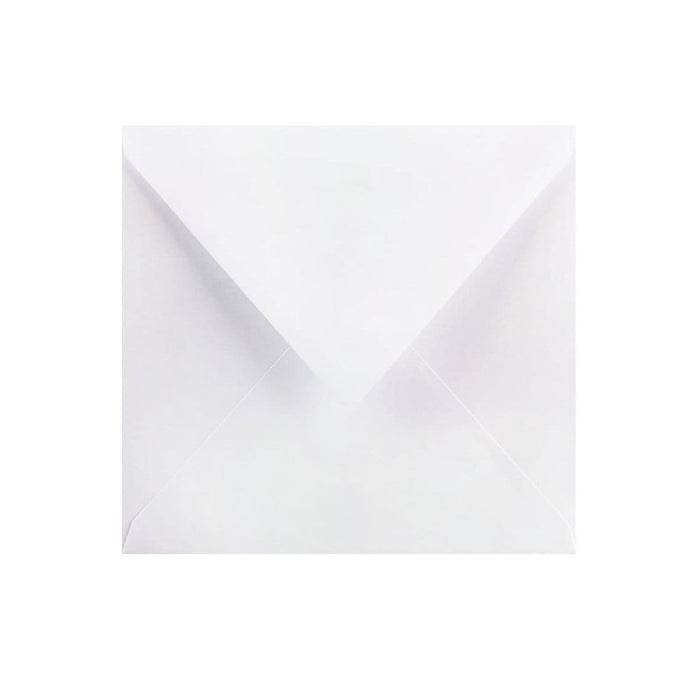 130 x 130 Pearlescent White Gummed Diamond Flap Greeting Envelopes [Qty 1,000] (2131166134361)