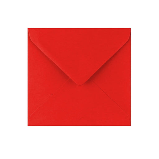 130 x 130 Poppy Red Gummed Diamond Flap Greeting Envelopes [Qty 1,000]