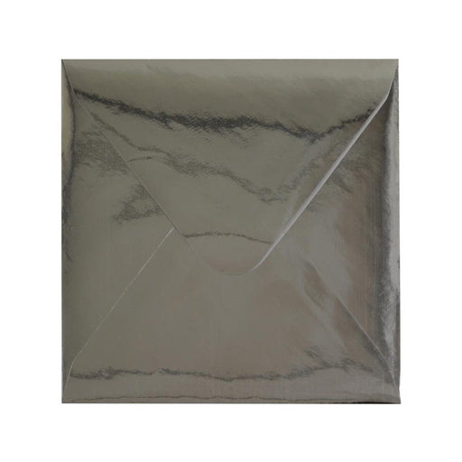 130 x 130 Metallic Silver Mirror Finish 120gsm Gummed Envelopes [Qty 100]