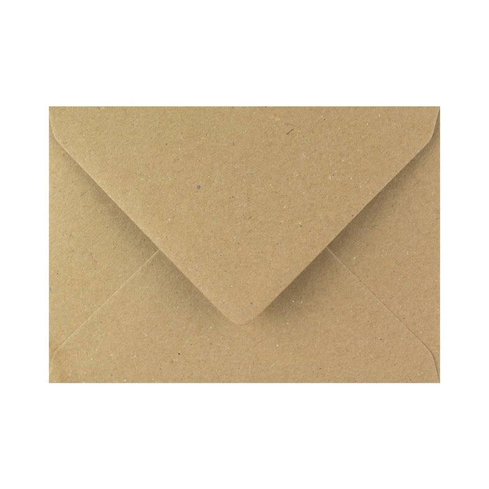 133 x 184 Brown Fleck Gummed Diamond Flap Greeting Envelopes [Qty 1,000] 5 x 7""