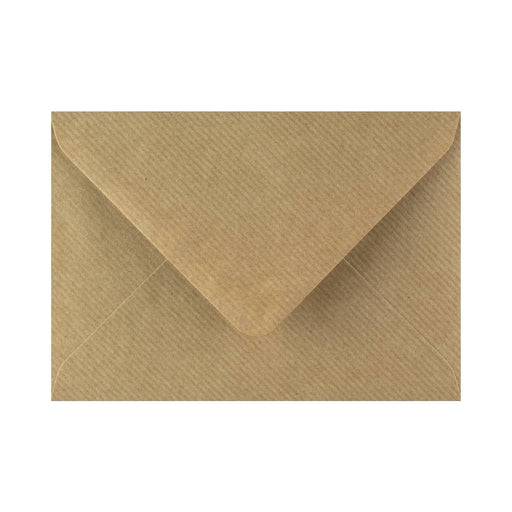 "133 x 184 Brown Ribbed Gummed Diamond Flap Greeting Envelopes [Qty 1,000] 5 x 7"" (2131129008217)"