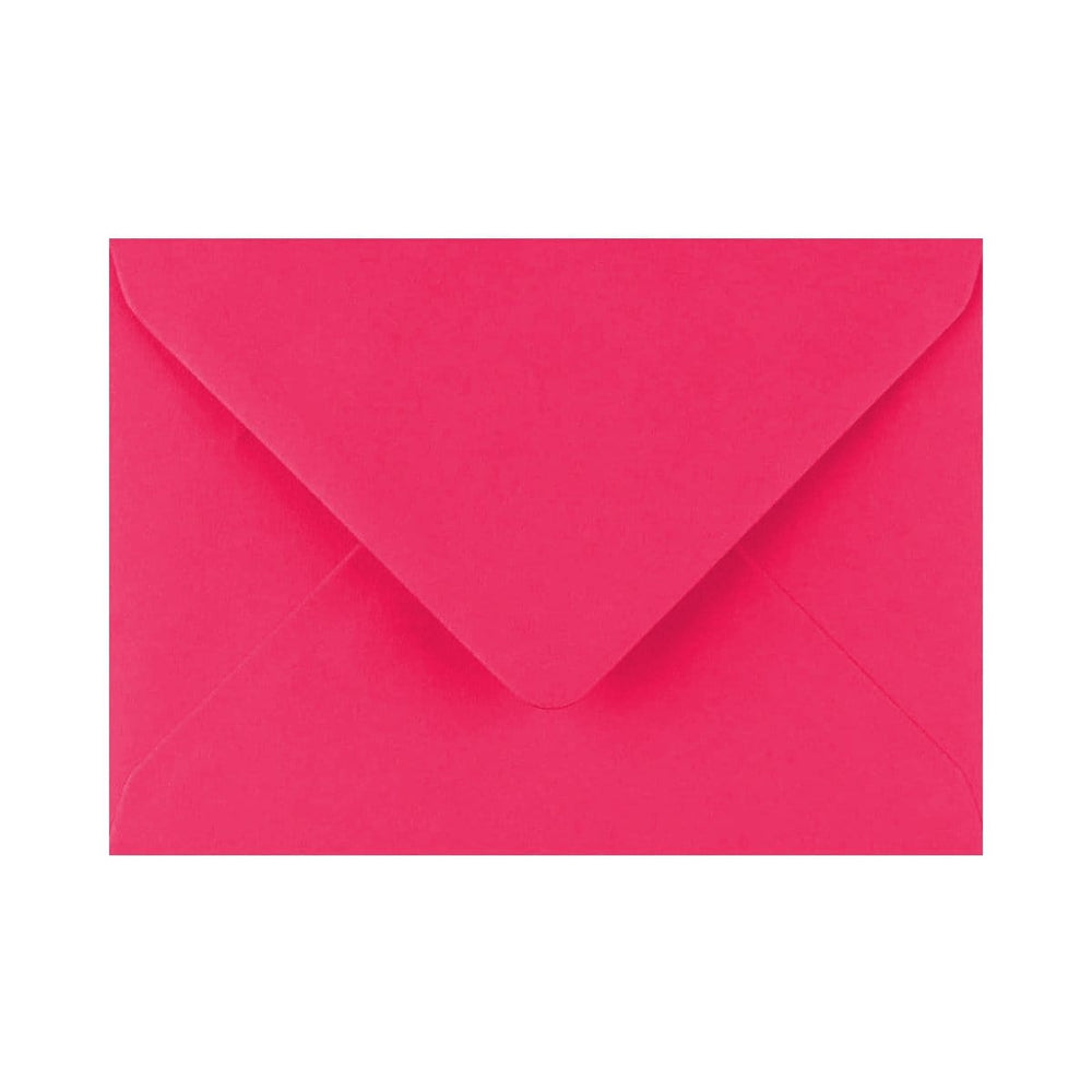 133 x 184 Fuchsia Pink Gummed Diamond Flap Greeting Envelopes [Qty 1,000] 5 x 7""