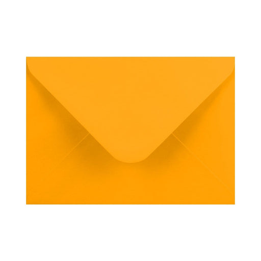 133 x 184 Harvest Yellow Gummed Diamond Flap Greeting Envelopes [Qty 1,000]  5 x 7""