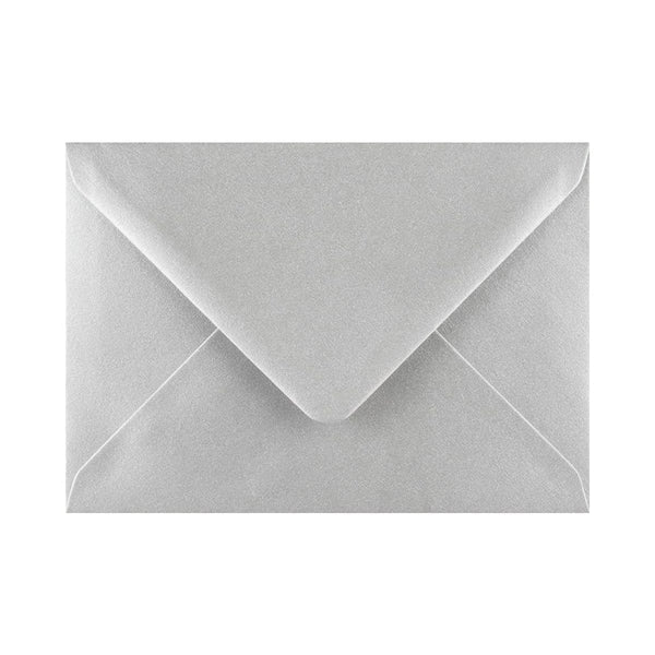 "133 x 184 Metallic Silver Gummed Diamond Flap Greeting Envelopes [Qty 1,000] 5 x 7"" (2131160432729)"