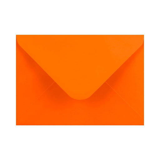 133 x 184 Orange Gummed Diamond Flap Greeting Envelopes [Qty 1,000] 5 x 7""
