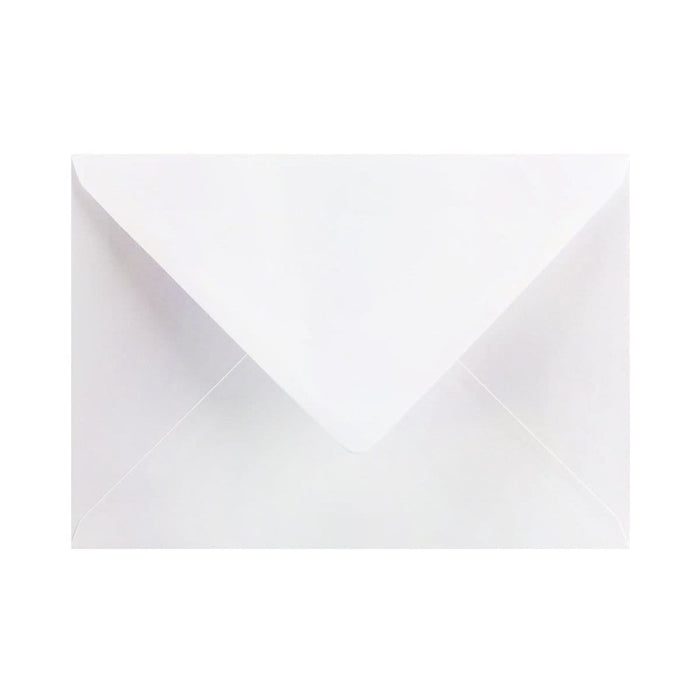 133 x 184 Pearlescent White Gummed Diamond Flap Greeting Envelopes [Qty 1,000] 5 x 7""