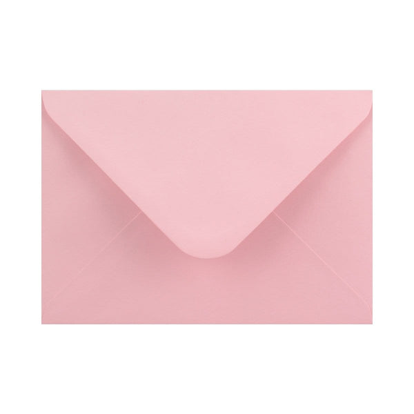 133 x 184 Soft Pink Gummed Diamond Flap Greeting Envelopes [Qty 1,000]  5 x 7""