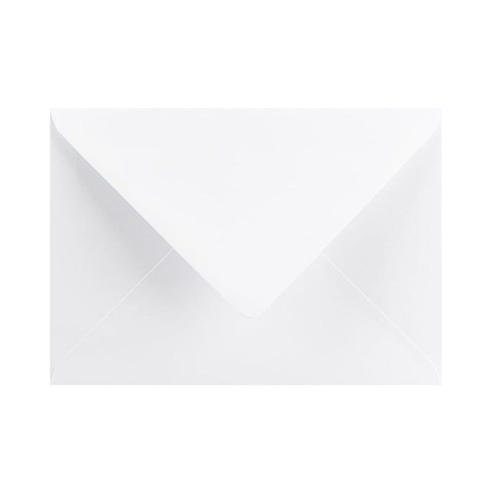 133 x 184 White Gummed Diamond Flap Greeting Envelopes [Qty 1,000] 5 x 7""