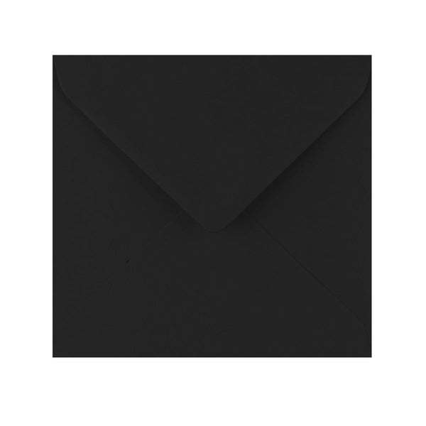 155 x 155 Black Gummed Diamond Flap Greeting Envelopes [Qty 1,000]