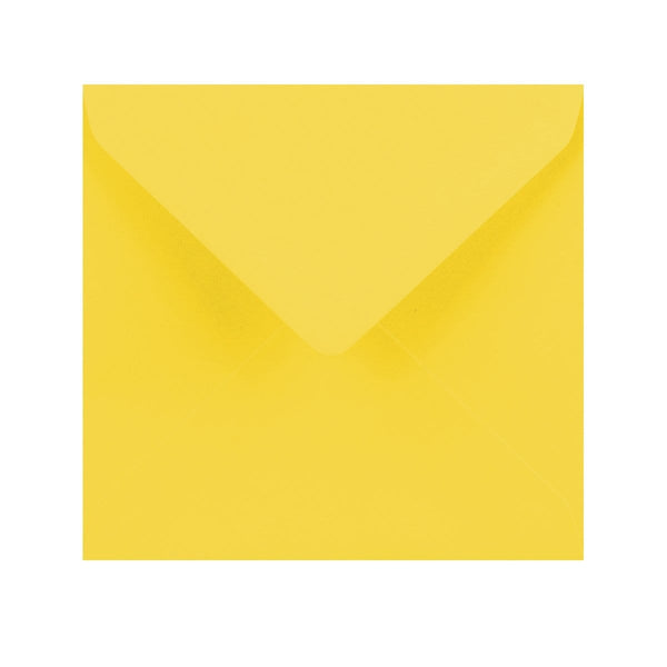 155 x 155 Canary Yellow Gummed Diamond Flap Greeting Envelopes [Qty 1,000]