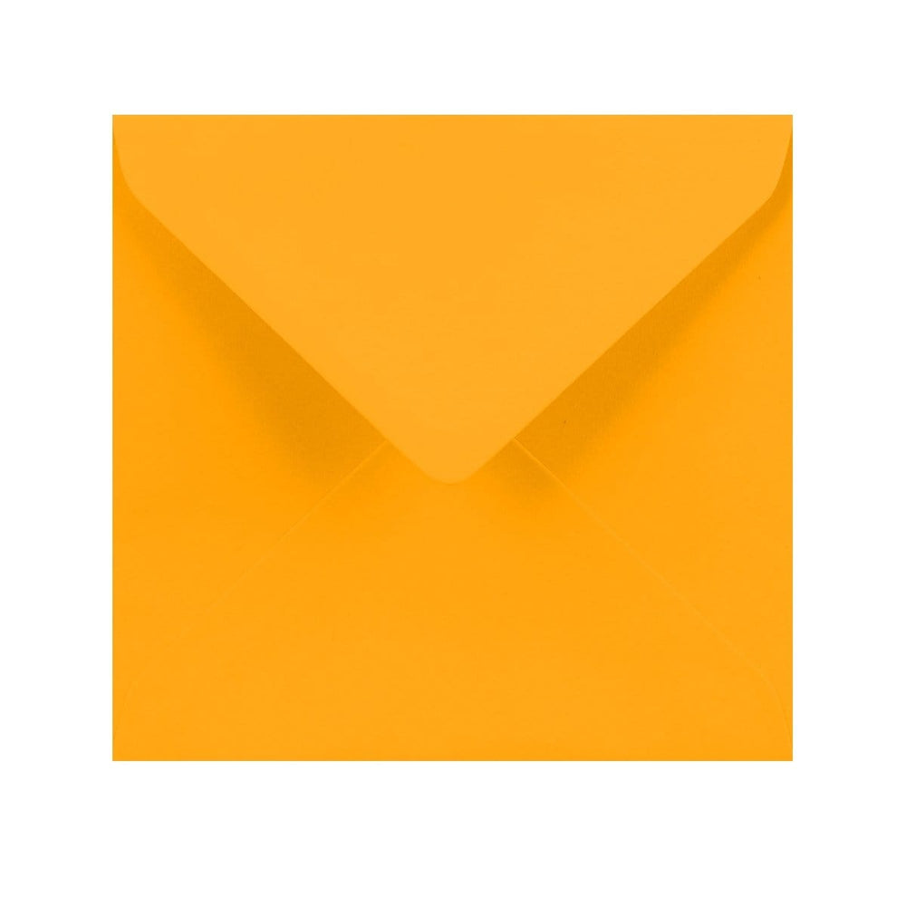 155 x 155 Harvest Yellow Gummed Diamond Flap Greeting Envelopes [Qty 1,000] (2131150930009)