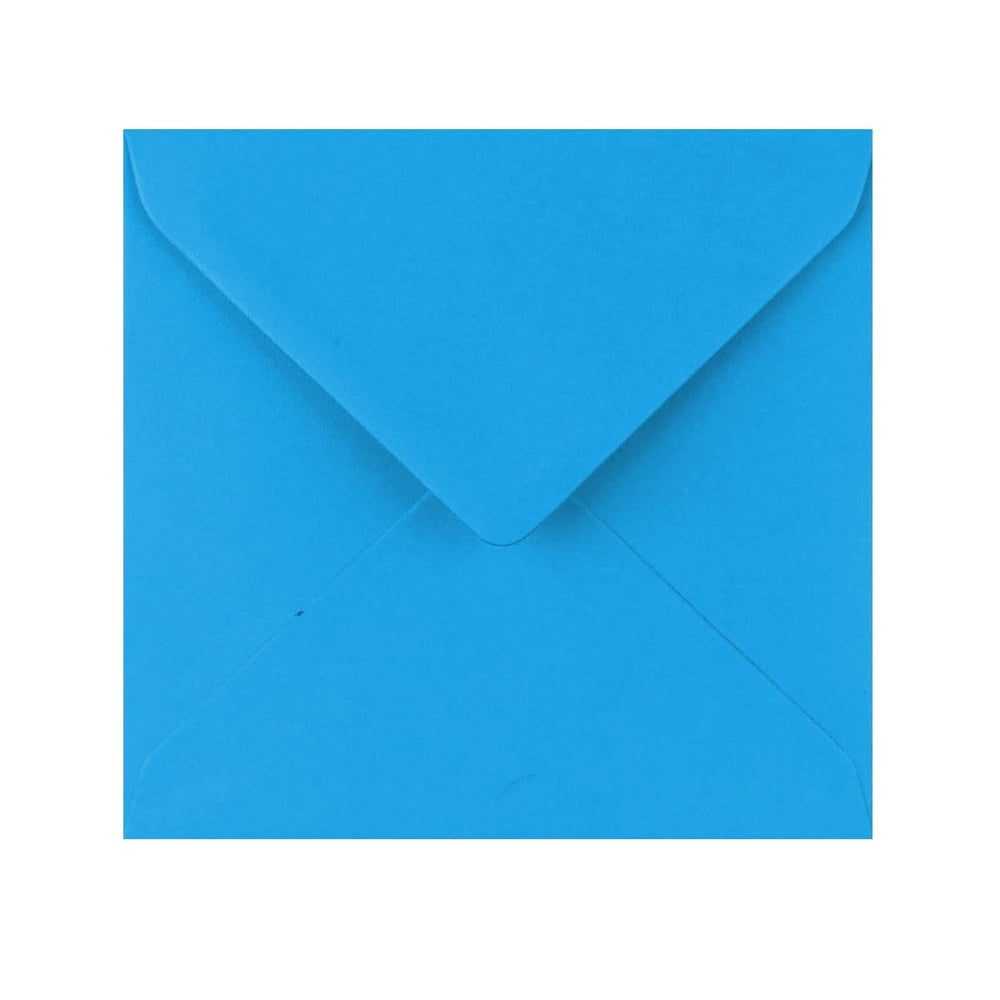 155 x 155 Kingfisher Blue Gummed Diamond Flap Greeting Envelopes [Qty 1,000]