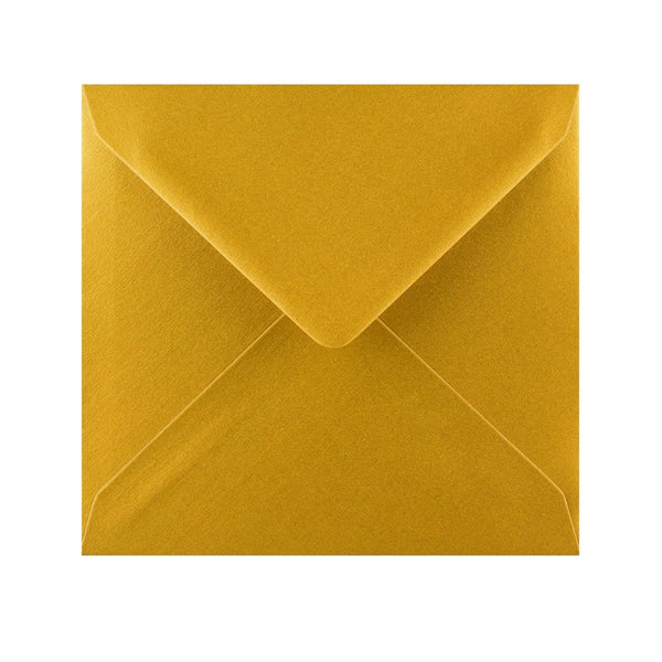155 x 155 Metallic Gold Gummed Diamond Flap Greeting Envelopes [Qty 1,000] (2131150078041)