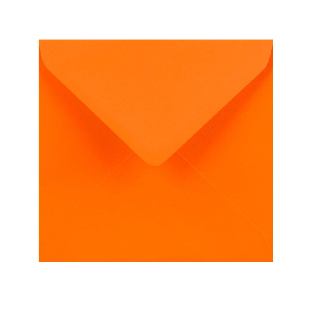 155 x 155 Orange Gummed Diamond Flap Greeting Envelopes [Qty 1,000] (2131157123161)
