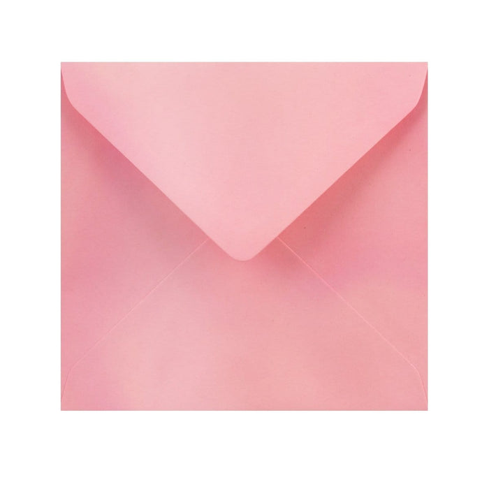 155 x 155 Pearlescent Pink Gummed Diamond Flap Greeting Envelopes [Qty 1,000]