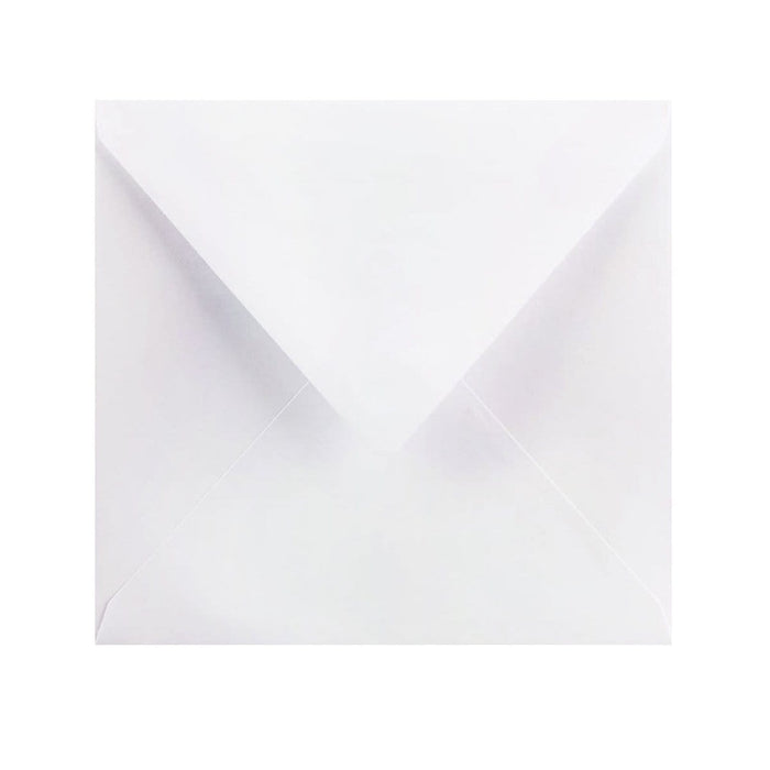 155 x 155 Pearlescent White Gummed Diamond Flap Greeting Envelopes [Qty 1,000] (2131166560345)