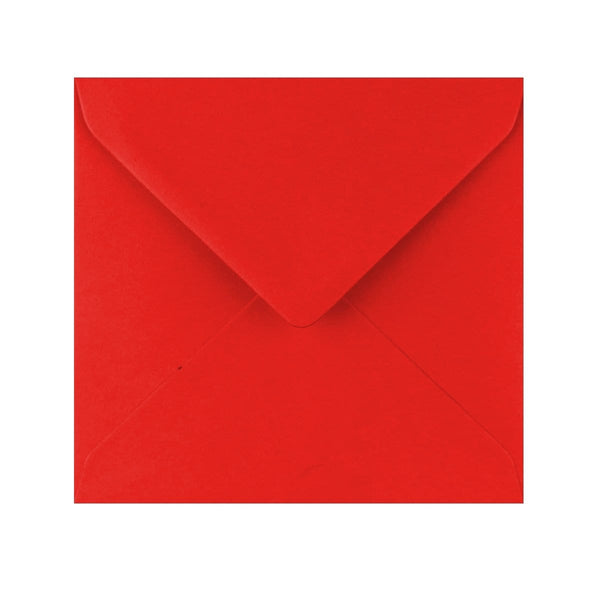 155 x 155 Poppy Red Gummed Diamond Flap Greeting Envelopes [Qty 1,000] (2131159318617)