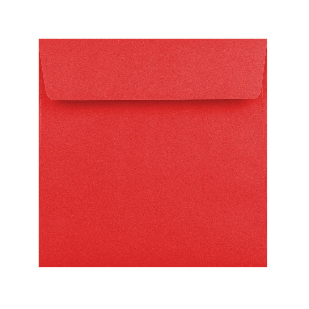 155 x 155 Red 120gsm Peel & Seal Envelopes [Qty 500] (2131417727065)