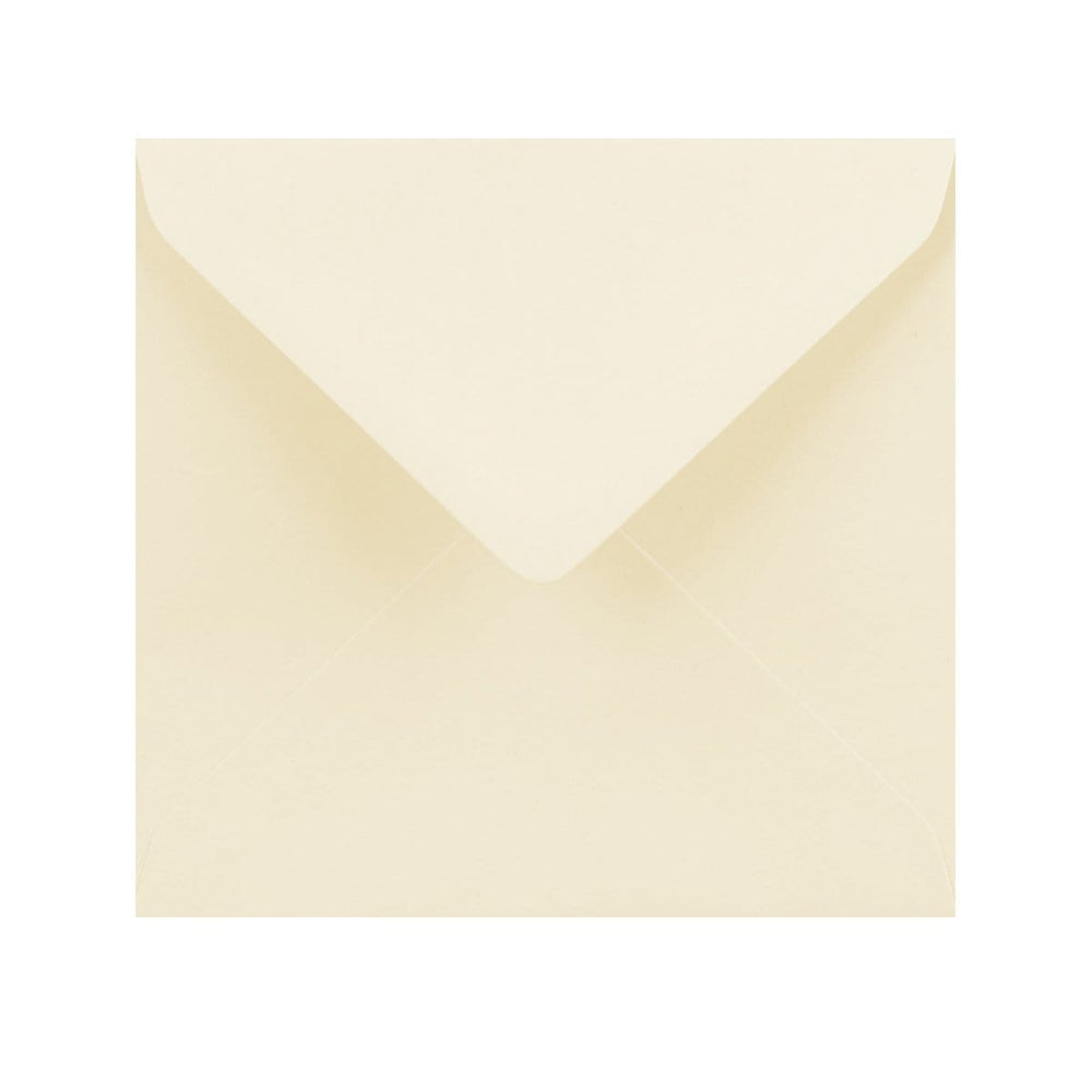155 x 155 Vanilla Cream Gummed Diamond Flap Greeting Envelopes [Qty 1,000] (2131163545689)