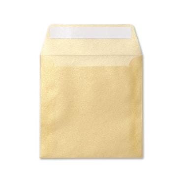Translucent Square gold 160 x 160 peel & seal envelopes
