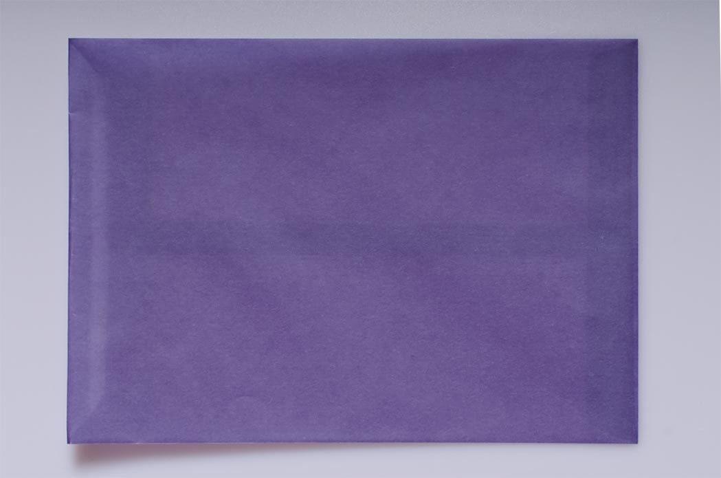 Translucent Square Purple 160 x 160 peel & seal envelopes