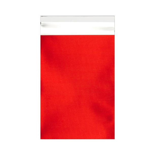 C6 Matt Red Foil Postal Envelopes / Bags [Qty 250] 114 x 162mm