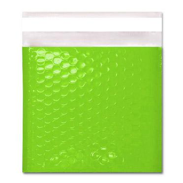 165 x 165 Gloss Lime Green Padded Bubble Envelopes [Qty 100] (2167698456665)